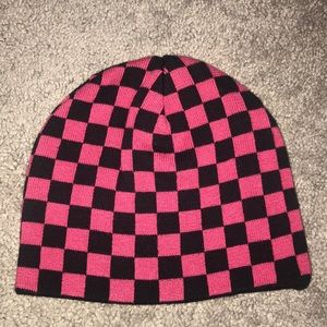 Never worn! Checkered knit hat!